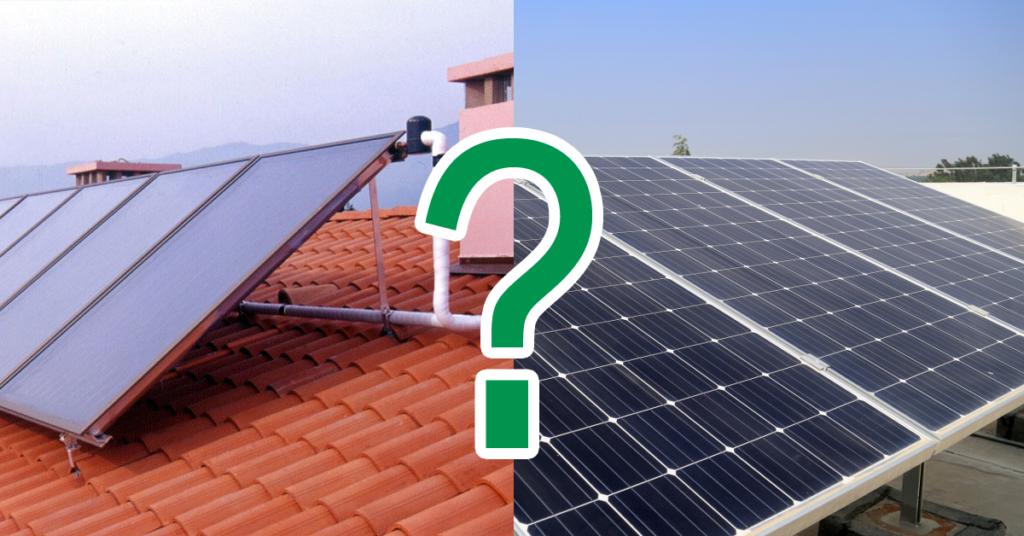 solare termico o solare fotovoltaico